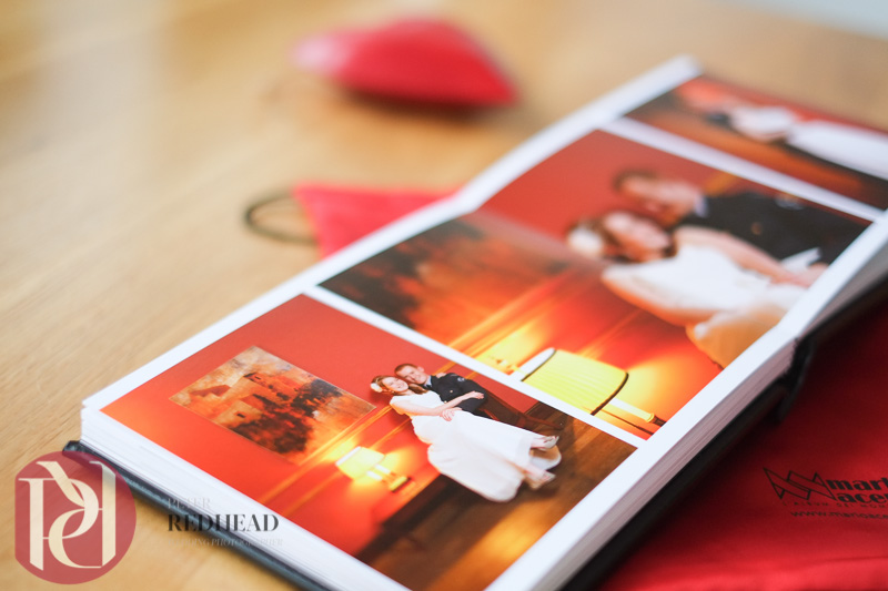 Black Leather Italian storybook wedding album with parent albums