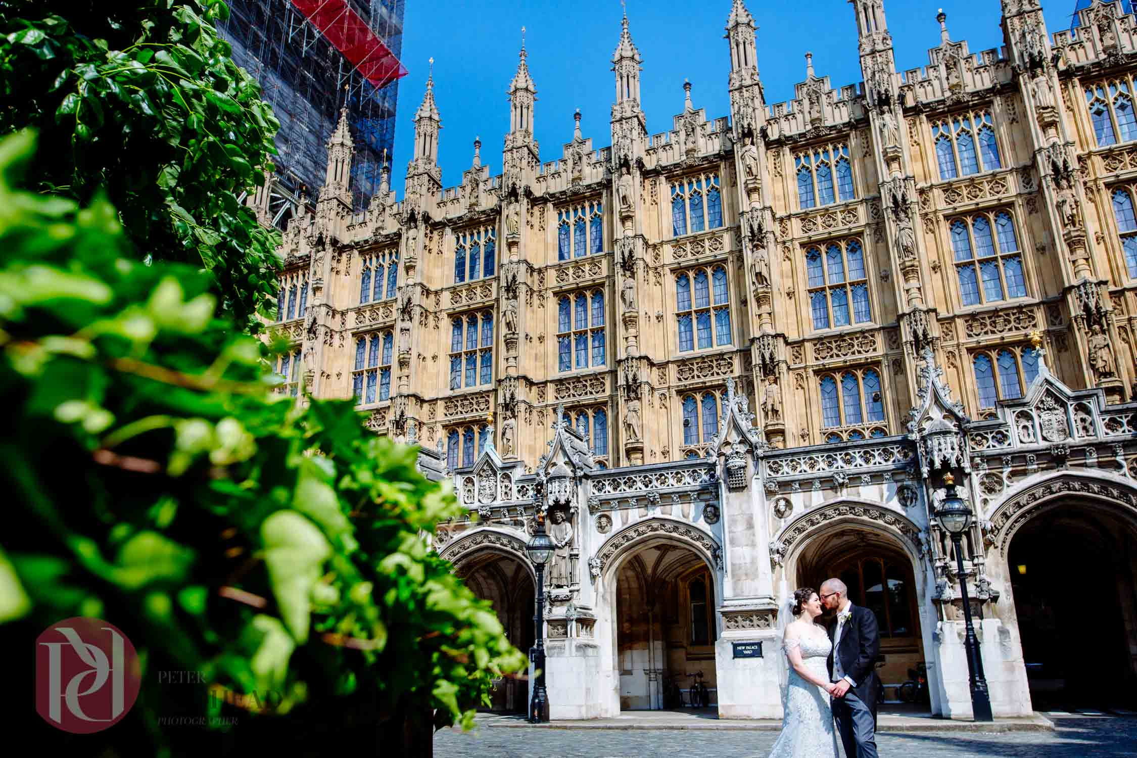 Wedding Photography at The Palace of Westminster London
